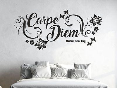 Wandtattoo Wandaufkleber Aufkleber Schlafzimmer Carpe Diem Nutze Tag Dekor 37 (Wand Schlafzimmer Dekor)