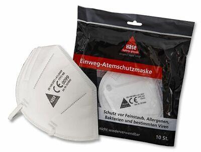 Hase Atemschutz-Faltmaske EN 149, FFP2 NR mit Nasenbügel 1 Beutel = 10 Stück