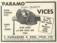 1953 F Parramore Caledonian Works Chapeltown Vices Ad -  - ebay.co.uk