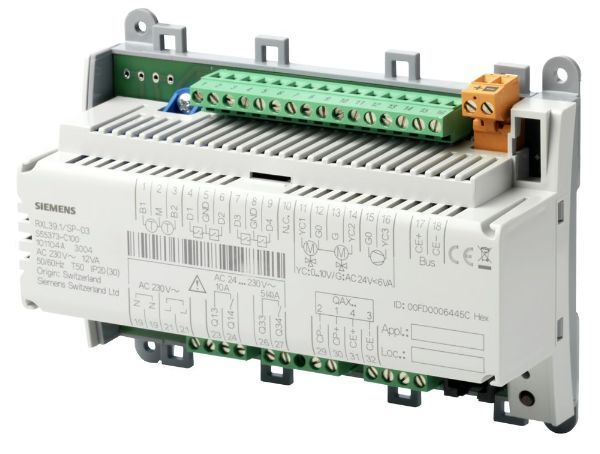 Siemens Rxl39.1fc-13 Communicating Room Controller For Fan-coil Applications