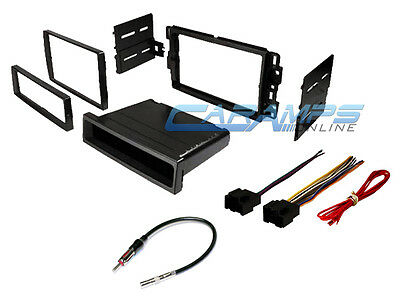 CAR STEREO RADIO KIT DASH INSTALLATION MOUNTING TRIM BEZEL WITH WIRING HARNESS Car Stereo Wiring Kit