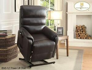 LIFT CHAIR IN A DARK BROWN ALL BONDED LEATHER MODEL 8545 $823.00 SAVE $476