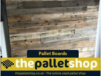 Reclaimed Pallet Boards - 50% OFF - Sanded and UnSanded