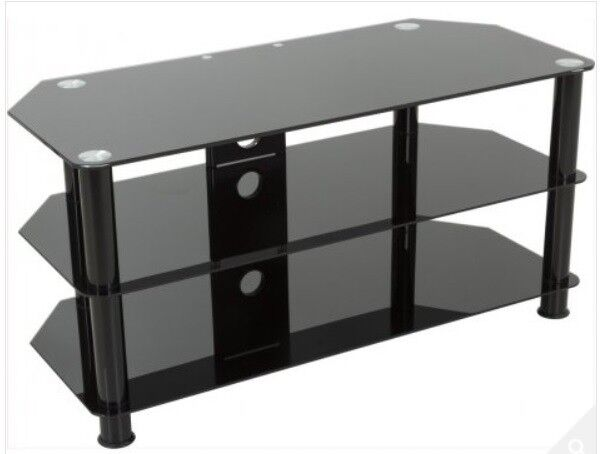 Black Glass Tv Stand For Up To 50 Inch Tv In Huntingdon