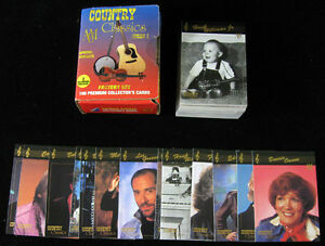 1992 Collect-a-Card Country Music Series 1 Set (100) In Sheets