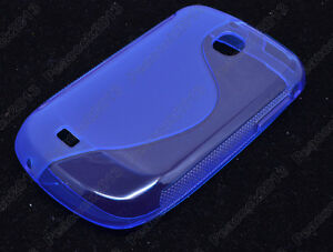 Blue S-Types TPU Silicone CASE Cover For Samsung Galaxy Mini S5570