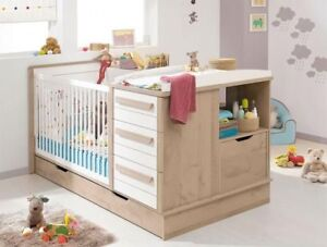 Convertible Crib to Bed and Bedroom Set