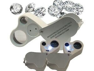 Jewelry Dual Loupe 30X 60X Magnifier With LED Light