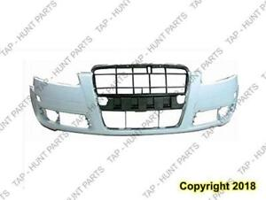 Bumper Front Without H/Lp Wash Hole Type 1 Primed Audi A6 2005-2008