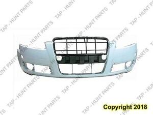 Bumper Front Without H/Lp Wash Hole Type 1 Primed CAPA Audi A6 2005-2008