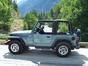 1998 Jeep TJ with Half Doors and 3 Tops