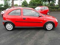 VAUXHALL CORSA 1.0 3DR RED LOW INSURANCE