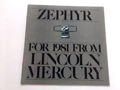 1981 Mercury Zephyr Sales Brochure Deluxe Z-7 Villager
