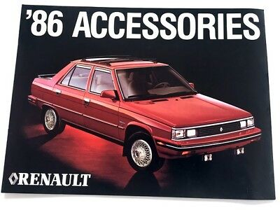 1986 Renault Accessories Original Dealer Brochure - Alliance Encore Convertible segunda mano  Embacar hacia Mexico