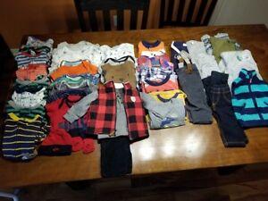 lot vêtements garçon 6mois et 6à 9 mois