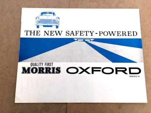 1962 Morris Oxford Series VI RHD  UK Original Car Sales Brochure Catalog
