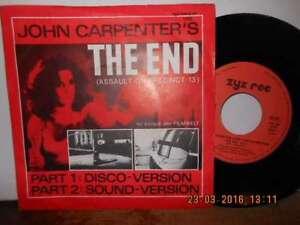 "7"" KULT 1983 ! JOHN CARPENTER S The End - Part 1 & Part 2 - Bgld, Österreich - 7"" KULT 1983 ! JOHN CARPENTER S The End - Part 1 & Part 2 - Bgld, Österreich"