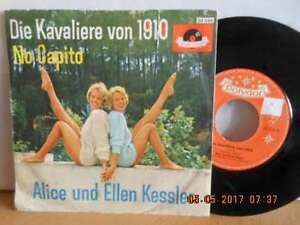 """7"""" RARE polydor 1961 ! ALICE und ELLEN KESSLER - Die Kavaliere von 1910 - Bgld, Österreich - 7"""" RARE polydor 1961 ! ALICE und ELLEN KESSLER - Die Kavaliere von 1910 - Bgld, Österreich"""