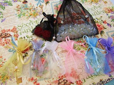 Pearl Pouch - 100 Pearl Bead Organza Gift Bag 2x3