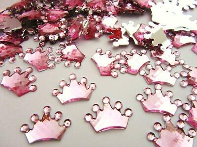 80 Princess Crown Acrylic Rhinestone Jewel/Embellishment/scrapbooking (Jewel Embellishment)