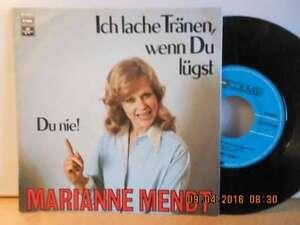 """7"""" AUSTRIA Rarität 1978 ! MARIANNE MENDT - Ich lache Tränen wenn Du lügst - Bgld, Österreich - 7"""" AUSTRIA Rarität 1978 ! MARIANNE MENDT - Ich lache Tränen wenn Du lügst - Bgld, Österreich"""