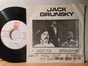 "AUSTRIA RARITÄT 7"" JACK GRUNSKY - I Gotta Breathe / Ain t you got A Thing To Say - Bgld, Österreich - AUSTRIA RARITÄT 7"" JACK GRUNSKY - I Gotta Breathe / Ain t you got A Thing To Say - Bgld, Österreich"