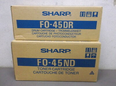 Usado, 2 Sharp FO-45ND Black Toner Cartridges for Sharp 4500-6600 Fax Machines - NEW!!! segunda mano  Embacar hacia Argentina