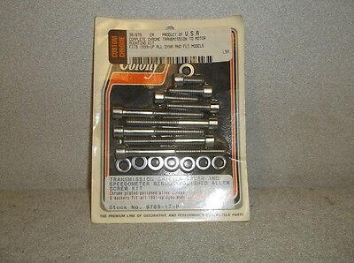 10 Polished Transmission Shifter Cover/Speedo Sensor Screw Kits for '91& Up Dyna