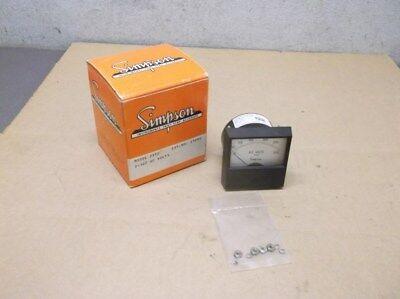 Simpson Electric Analog Panel Meter