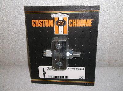 30 Custom Chrome #19621-A Chrome Lock Holders for Custom Choppers - NEW!!!