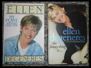 two hardcover Ellen books.. $6 for the two