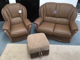 BRAND NEW leather 2+1+storage footstool, £765.
