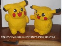 Pikachu hand carved and hand painted