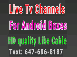 Live Tv Channels for Android Boxes in HD iptv box kodi