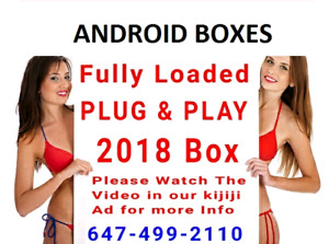 Android Boxes Fully Loaded Plug and Play  ( NO MONTHLY FEE )