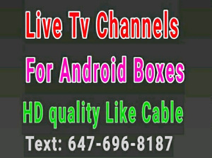 Android boxes Live TV Channels IPTV ( Africa  belgium  sports ip