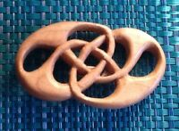 New WOODEN CELTIC KNOT  pin/ brooch,  Locally crafted.