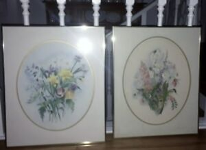 Two Beautifully framed and matted Frances Turner watercolour art
