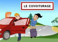 Covoiturage Quebec Trois-rivières 22/Oct, 8H. Retour 23/Oct, 8H