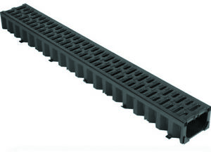 ACO HEXDRAIN SURFACE WATER DRAINAGE CHANNEL BLACK DRIVEWAY DRAINAGE 1 METRE