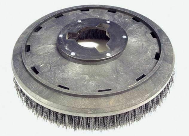 """Malish  813215np9200 - 17"""" Machine Grit stripping brush W/plate 15GX92"""