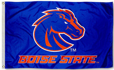 Boise State Broncos 3' x 5' Flag (Logo with Wordmark) NCAA Licensed Boise State Broncos Flag