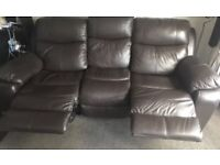 Harvey's electric recliner & Ikea extending table & 4 chairs
