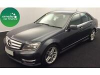 £267.72 PER MONTH GREY 2012 MERCEDES C220 2.1 AMG SPORT 4 DOOR DIESEL MANUAL