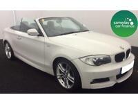 £285.81 PER MONTH WHITE 2013 BMW 118i 2.0 M SPORT CONVERTIBLE PETROL MANUAL