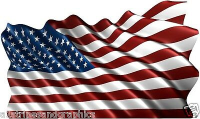 24X40 American Flag Window RV Trailer Decal Decals Graphics Wall Art Tailgate