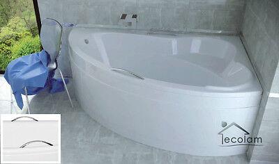 Badewanne Wanne Eckwanne 160 x 100 cm Schürze Ablauf Acryl Handgriffe rechts