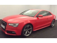 Red AUDI A5 COUPE 1.8 2.0 TDI Diesel SPORT S LINE FROM £62 PER WEEK!