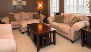High quality couch, loveseat and ottoman