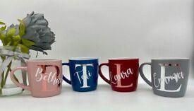 Personalised Mug | Initial and Name Mug | Custom Name
